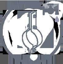 Хомутовый блок для трубопроводов
